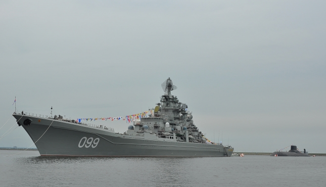 Петр Великий и Дмитрий Донсокй на рейде Кронштадта
